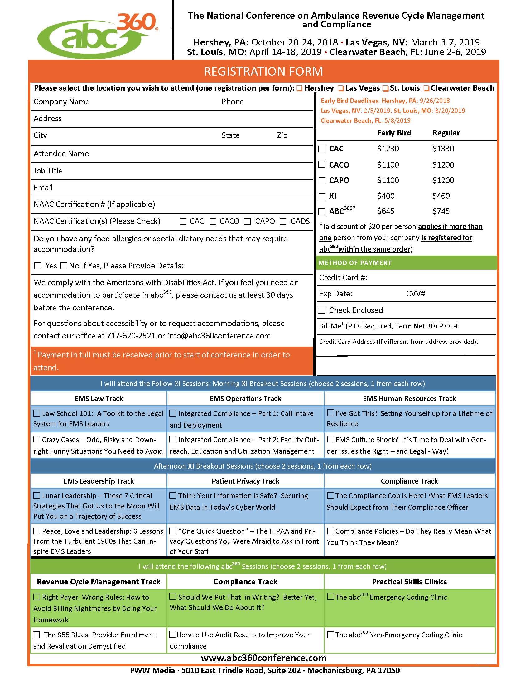 2018-19 Registration Form
